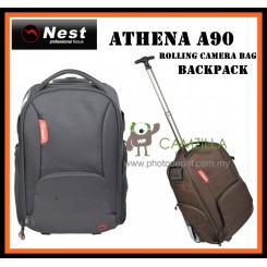 Nest Athena A90 rolling camera bag backpack - Black